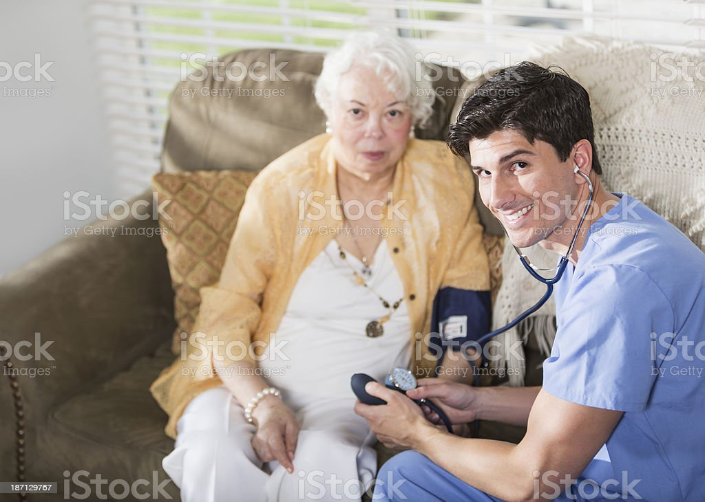 Taking blood pressure stock photo