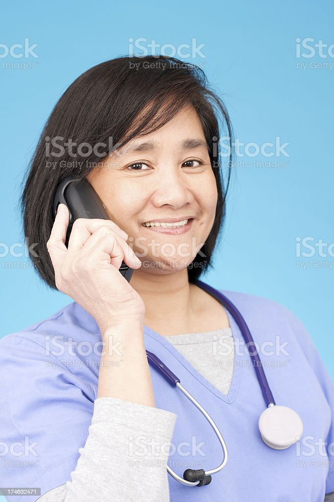 taking calls royalty-free stock photo