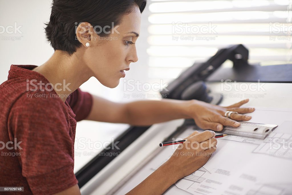Taking care in her work royalty-free stock photo