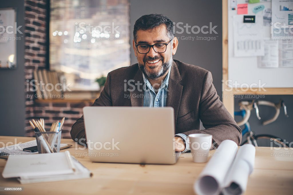 Taking care of business. stock photo