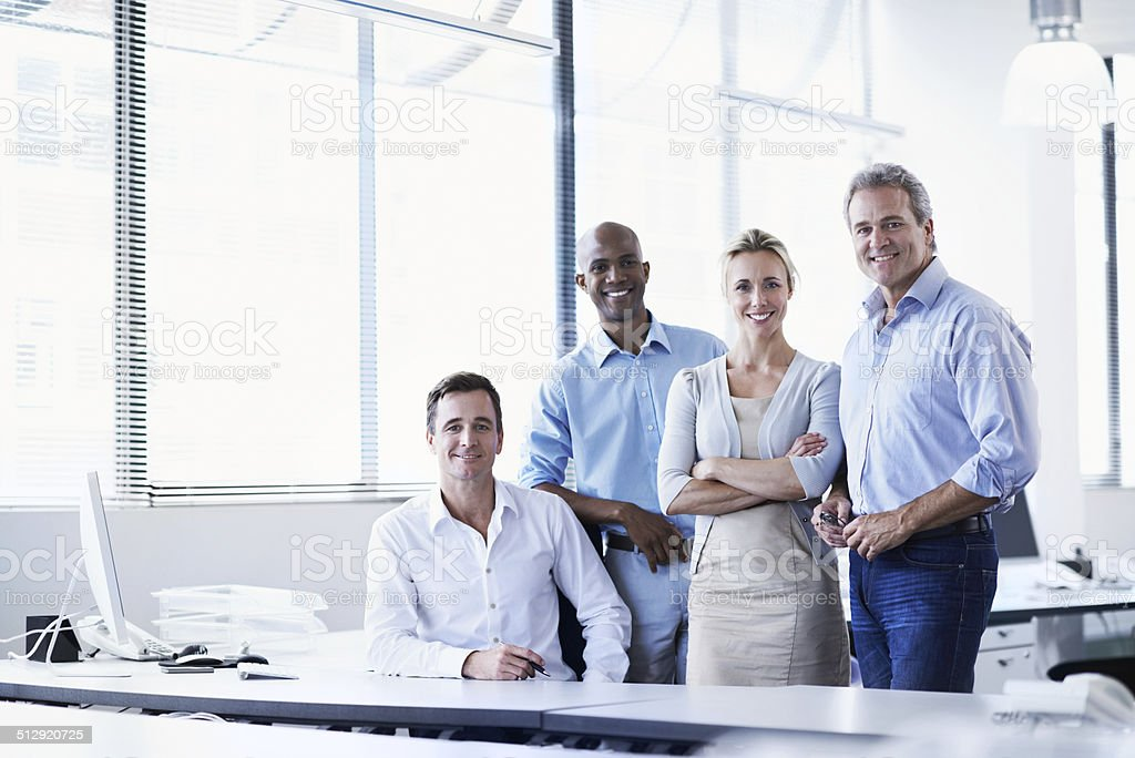 Taking care of business! stock photo