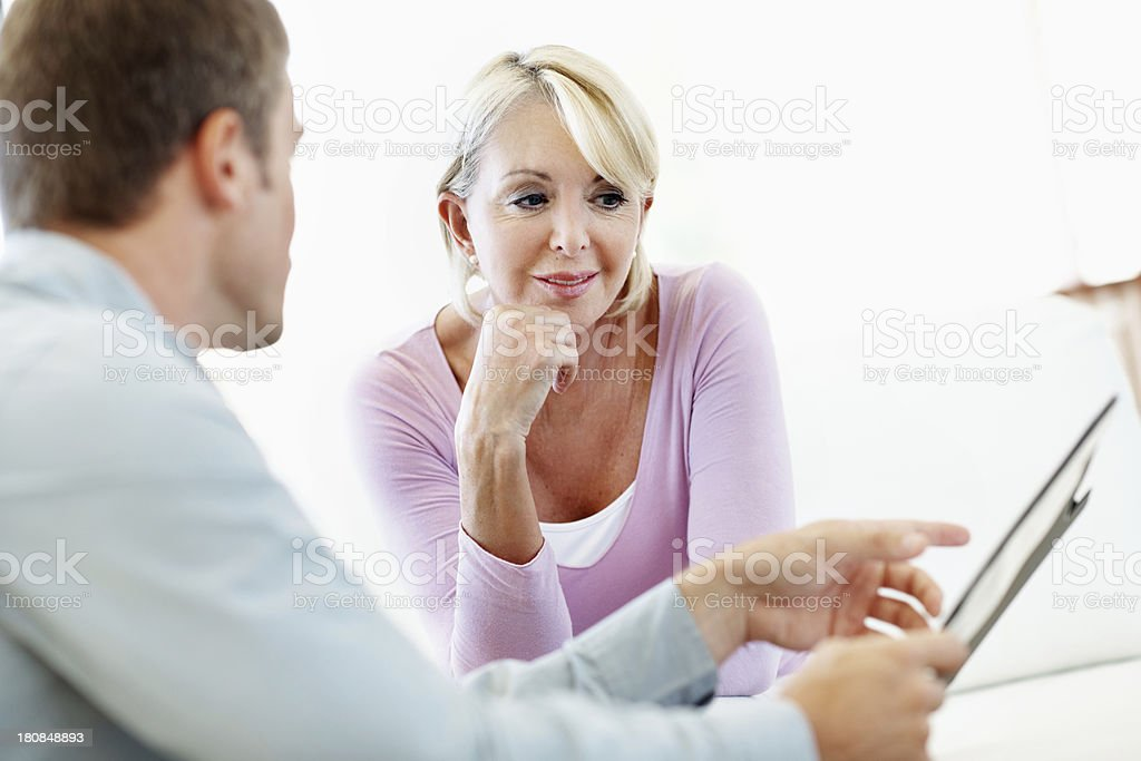 Taking care of his client royalty-free stock photo