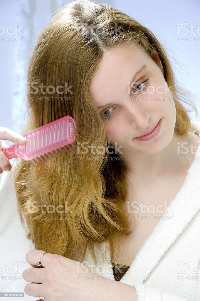 taking care of long hair royalty-free stock photo