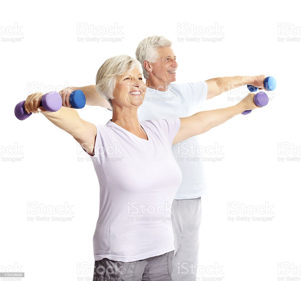 Taking care of our fitness together stock photo