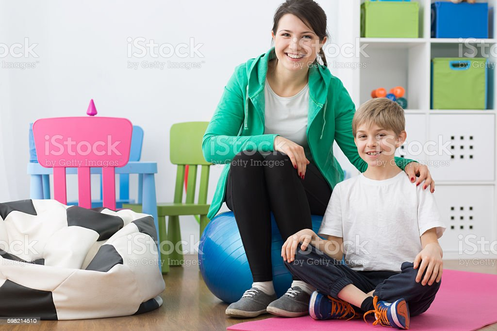 Taking care of own physical health stock photo