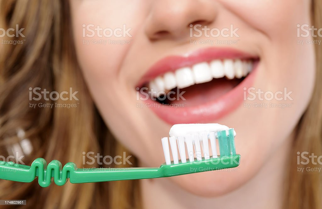taking care of teeth royalty-free stock photo