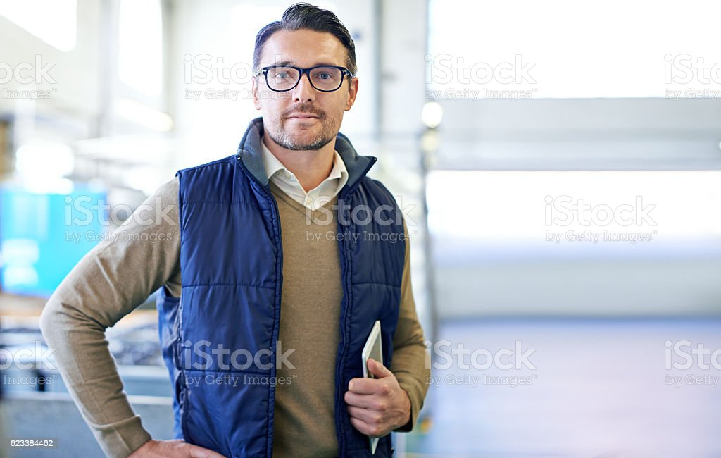 Taking care of warehouse business stock photo