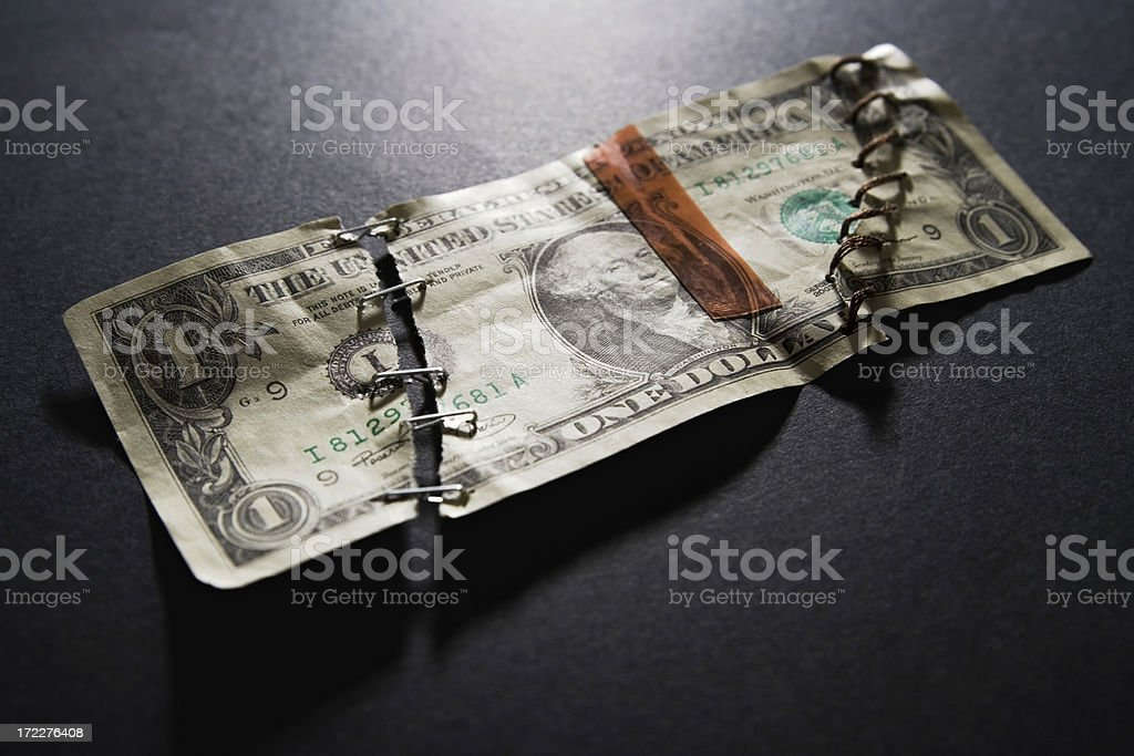 Taking care of your finances? royalty-free stock photo