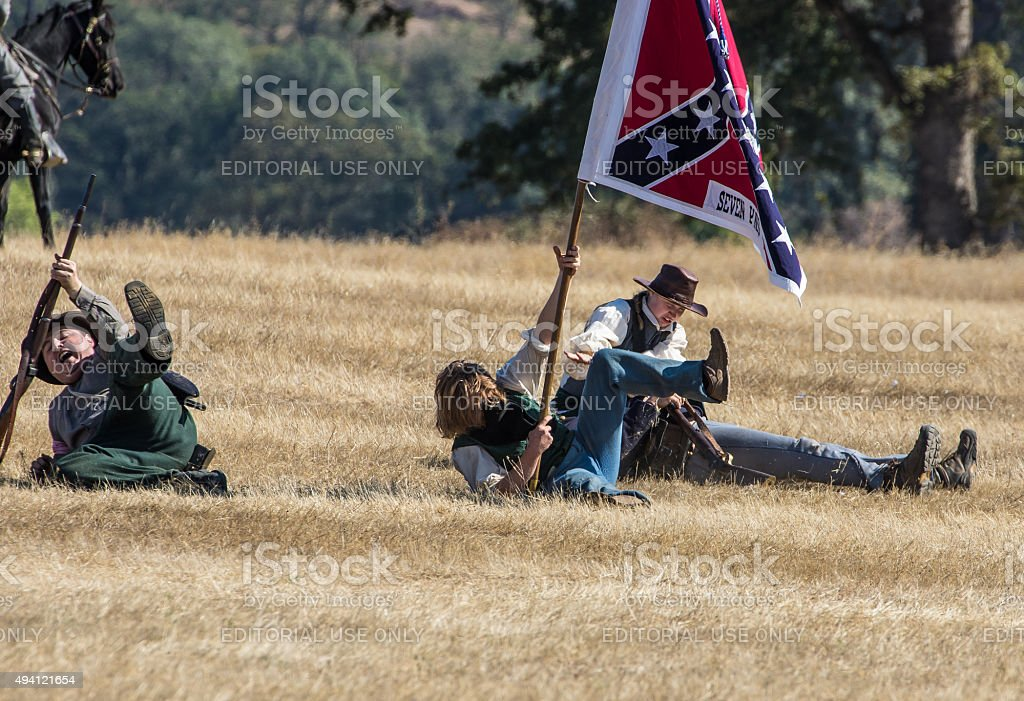 Taking Casualties stock photo
