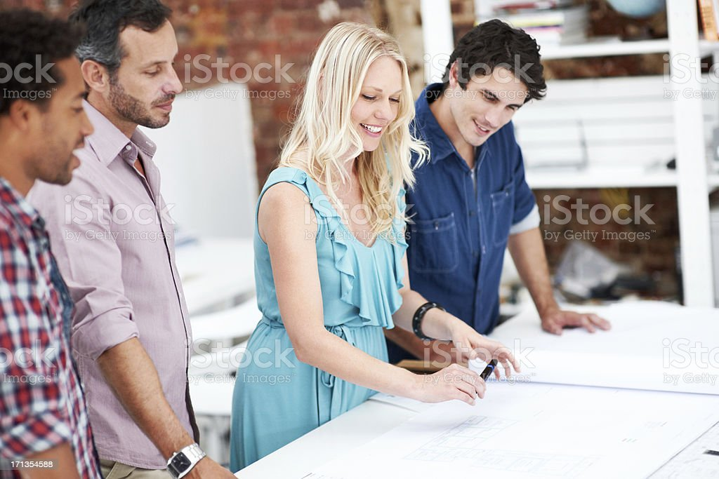 Taking charge of the team royalty-free stock photo