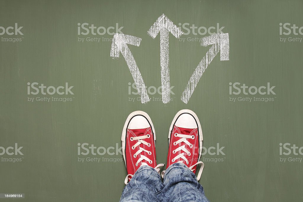 Taking decisions stock photo