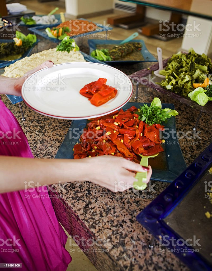 Taking Food royalty-free stock photo