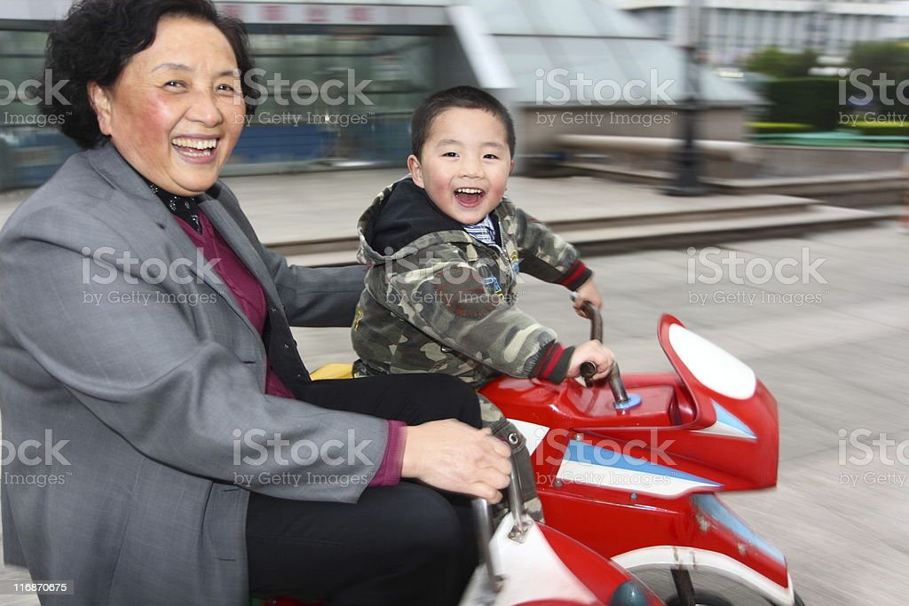 Taking grandma out for a ride... royalty-free stock photo