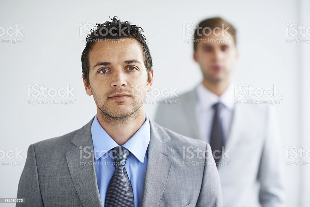 Taking his career seriously royalty-free stock photo