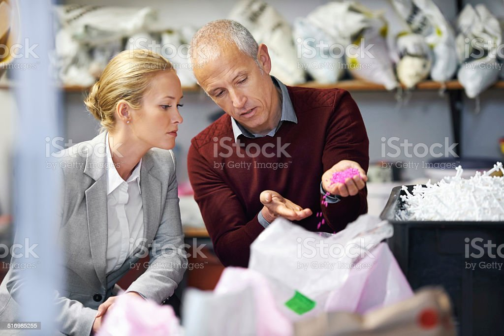 Taking his expert advice stock photo