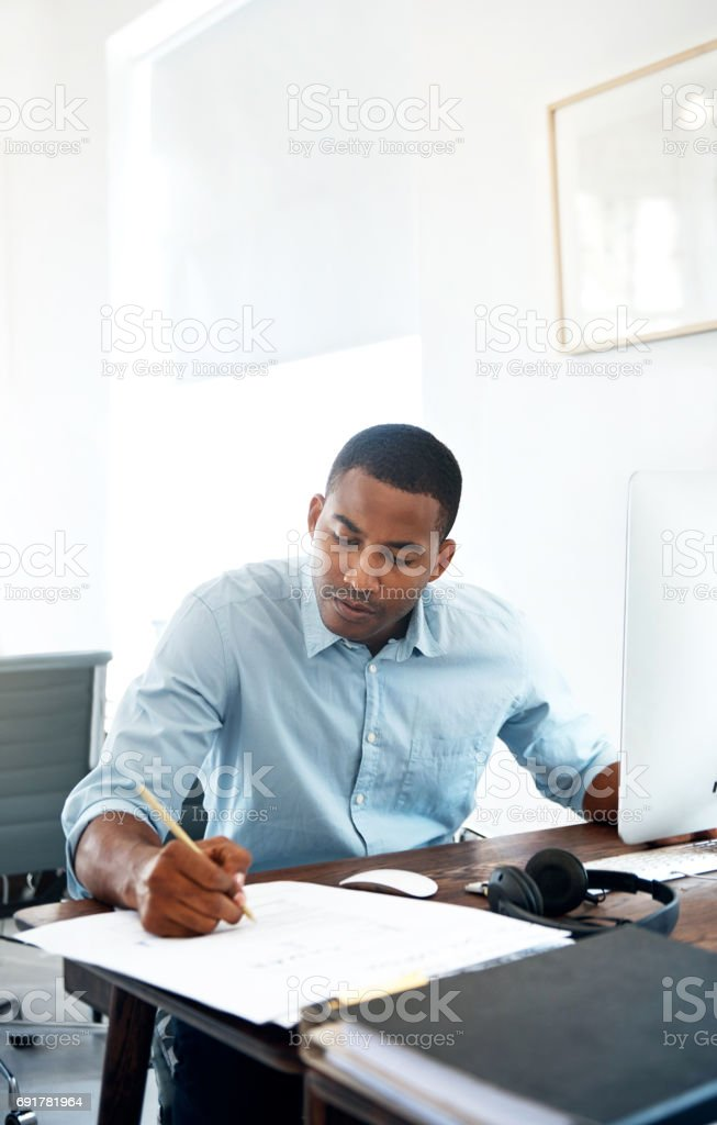 Taking his ideas from good to great stock photo