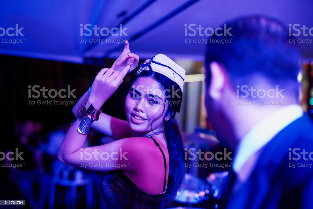 Taking in a seedy evening stock photo