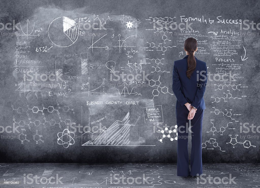 Taking in all the information before making a decision stock photo
