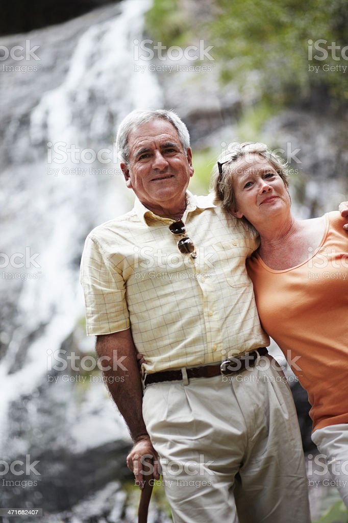 Taking in some fresh air together - Holidays & Vacations royalty-free stock photo