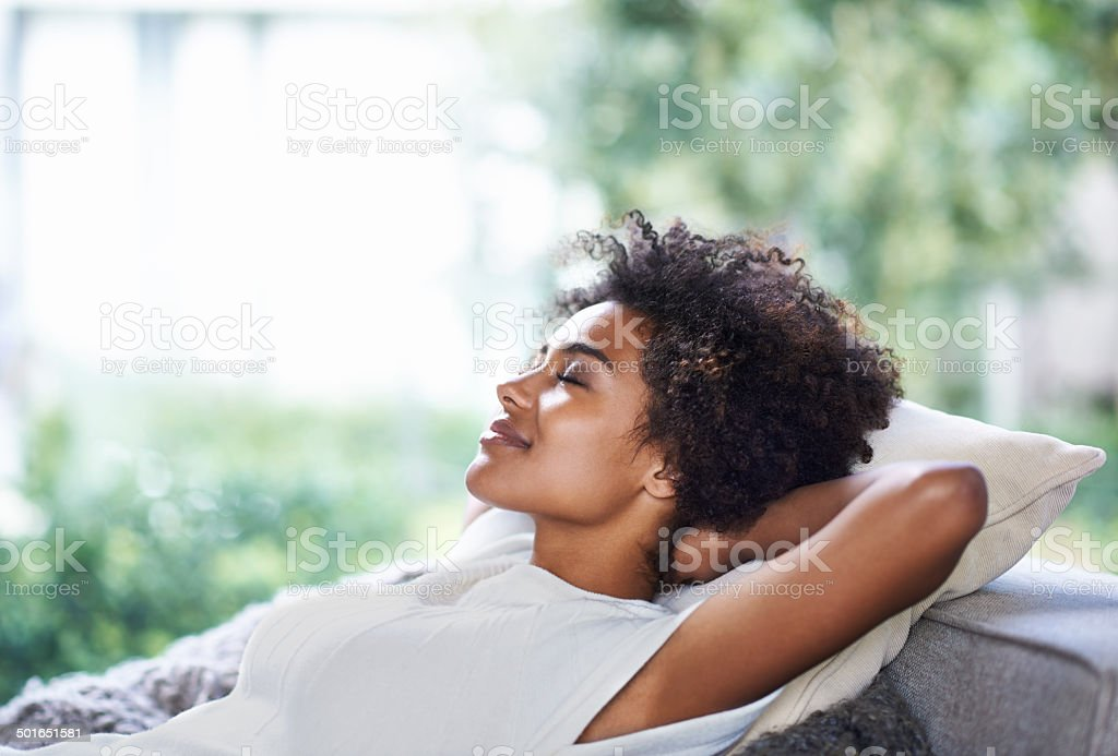 Taking in some me-time stock photo