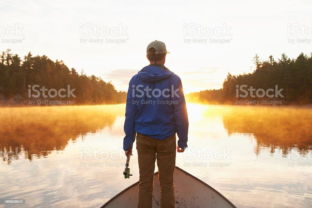Taking in the beautiful scenery stock photo