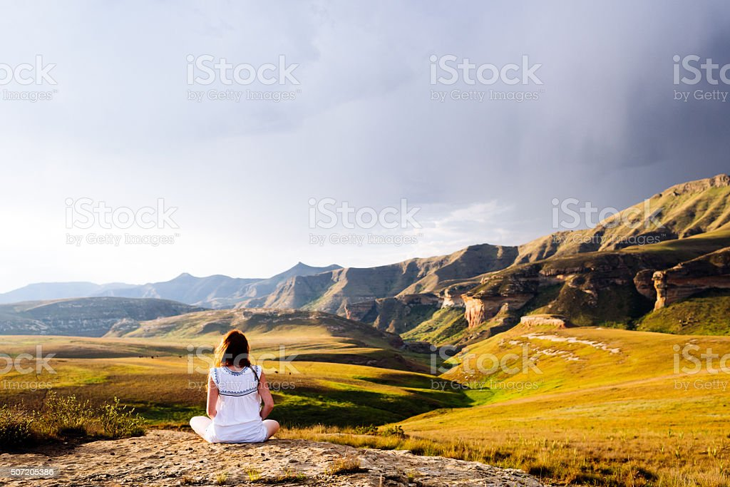 Taking In The Magnificent View stock photo