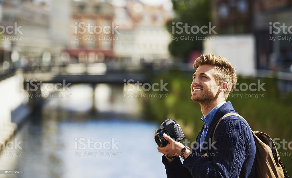 Taking in the tourist attractions royalty-free stock photo