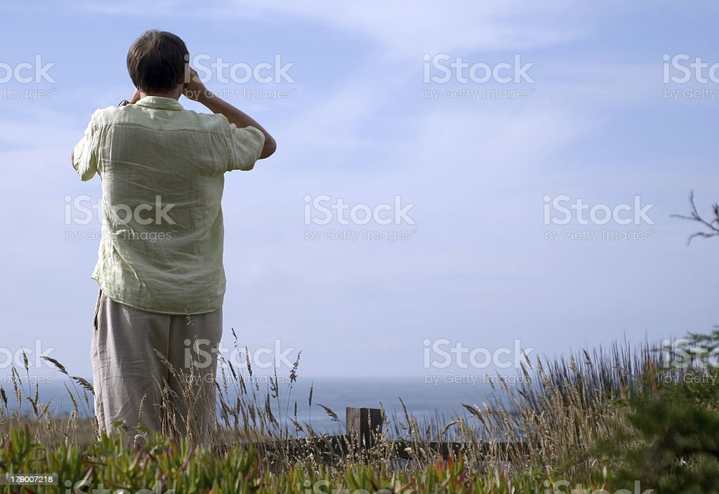 Taking in the View royalty-free stock photo