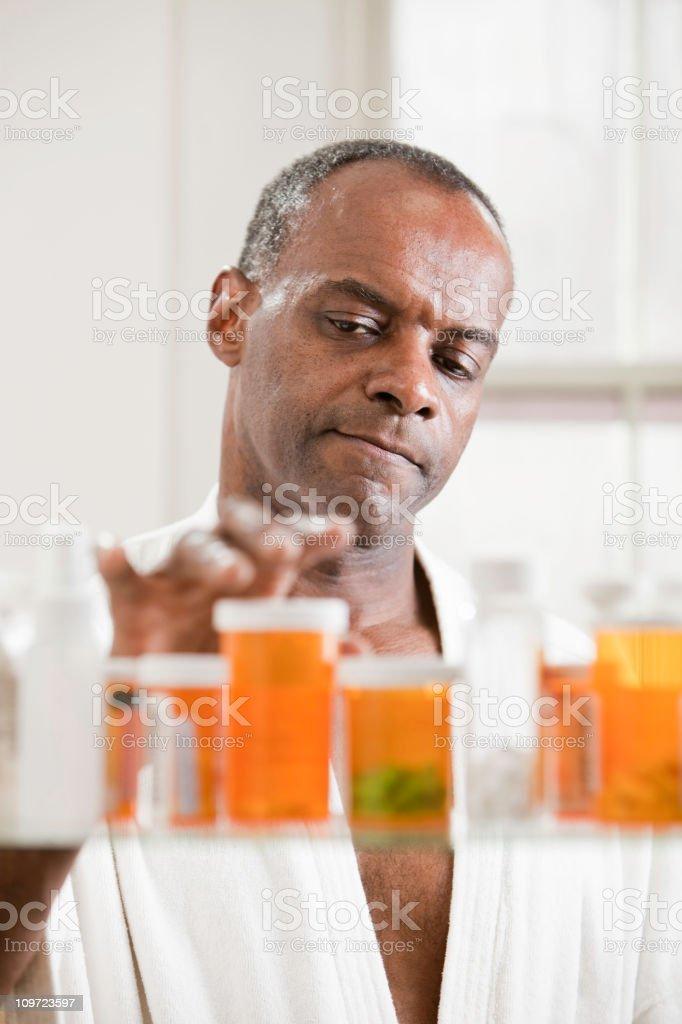 Taking Medication stock photo