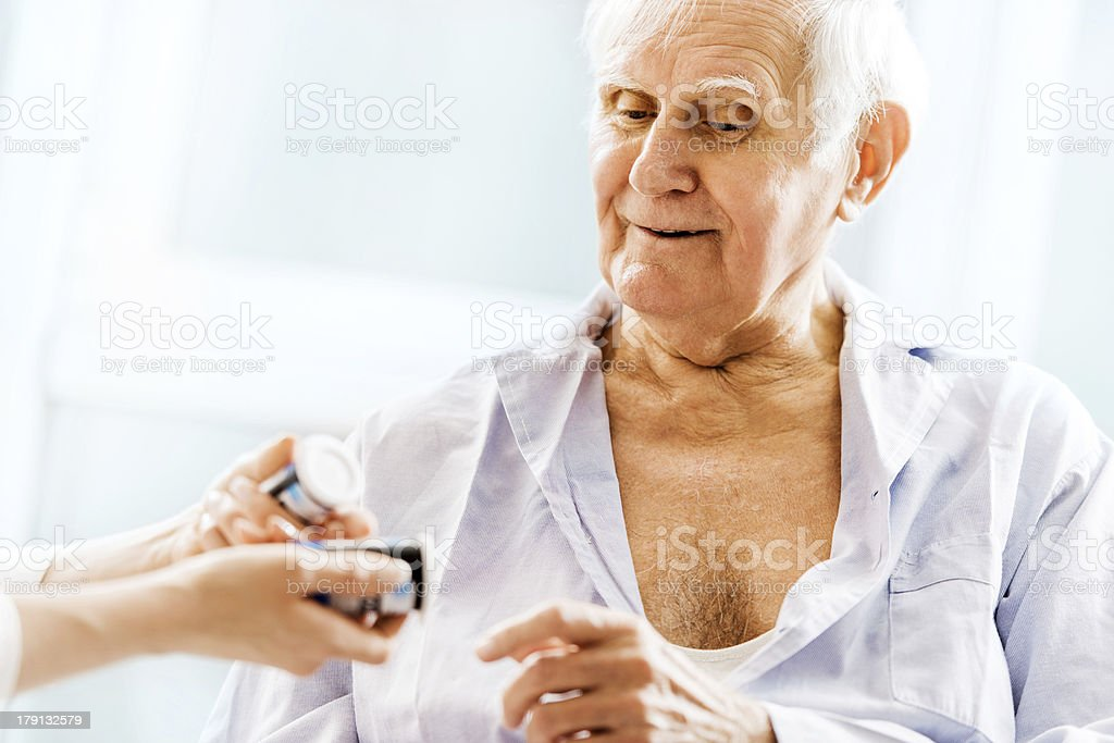 Taking medicine. royalty-free stock photo