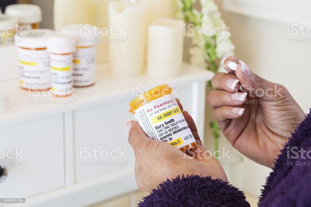 Taking Medicine stock photo