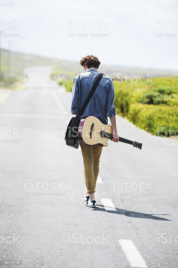 Taking my music on the road stock photo