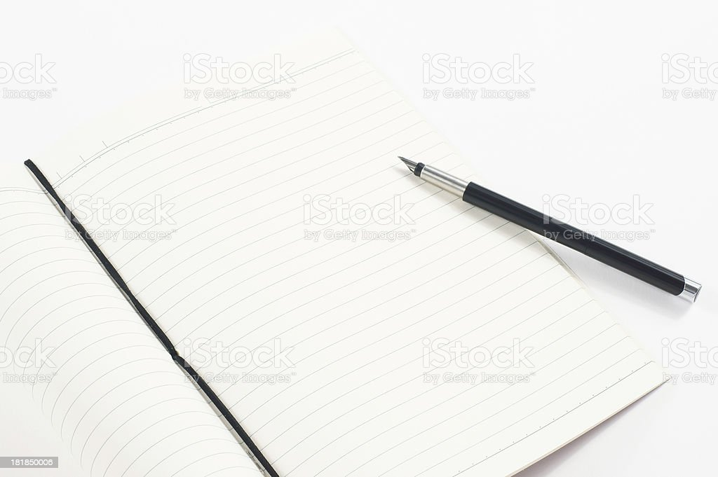 Taking Notes on Notebook royalty-free stock photo