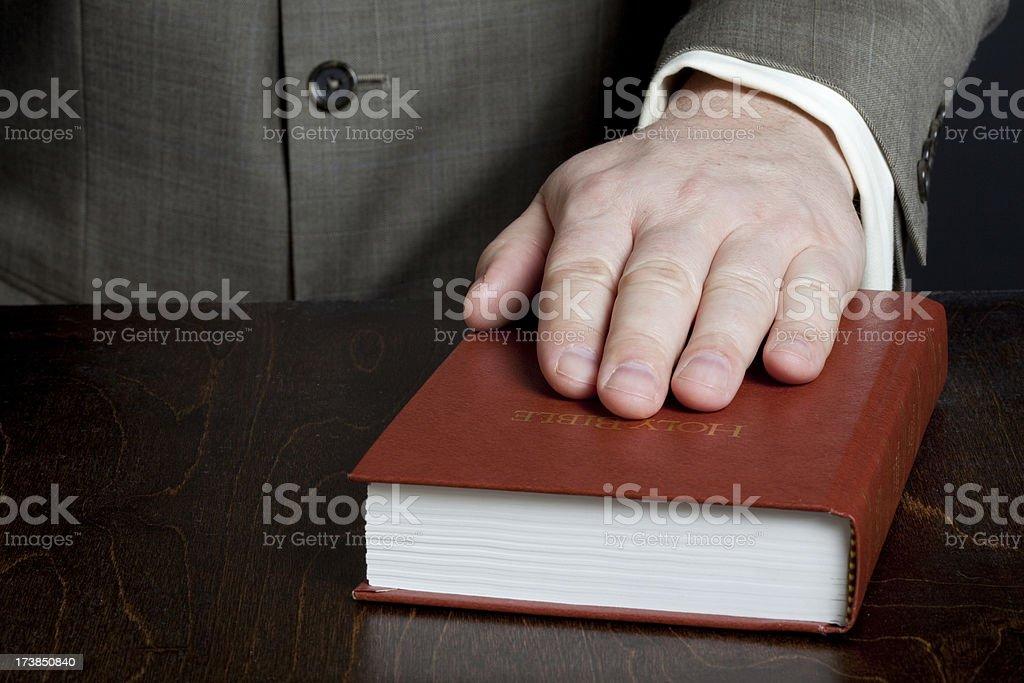 Taking oath stock photo