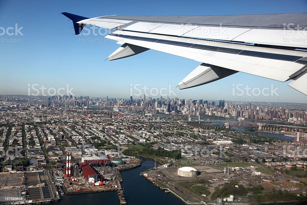 Taking Off Over New York City royalty-free stock photo