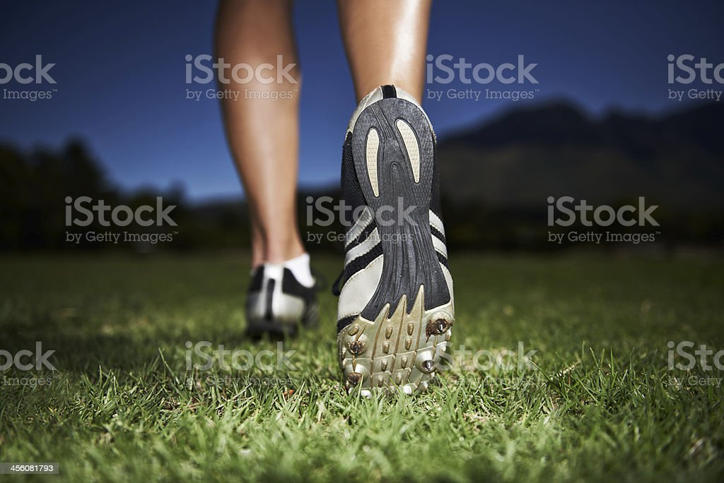 Taking on the world one step at a time stock photo
