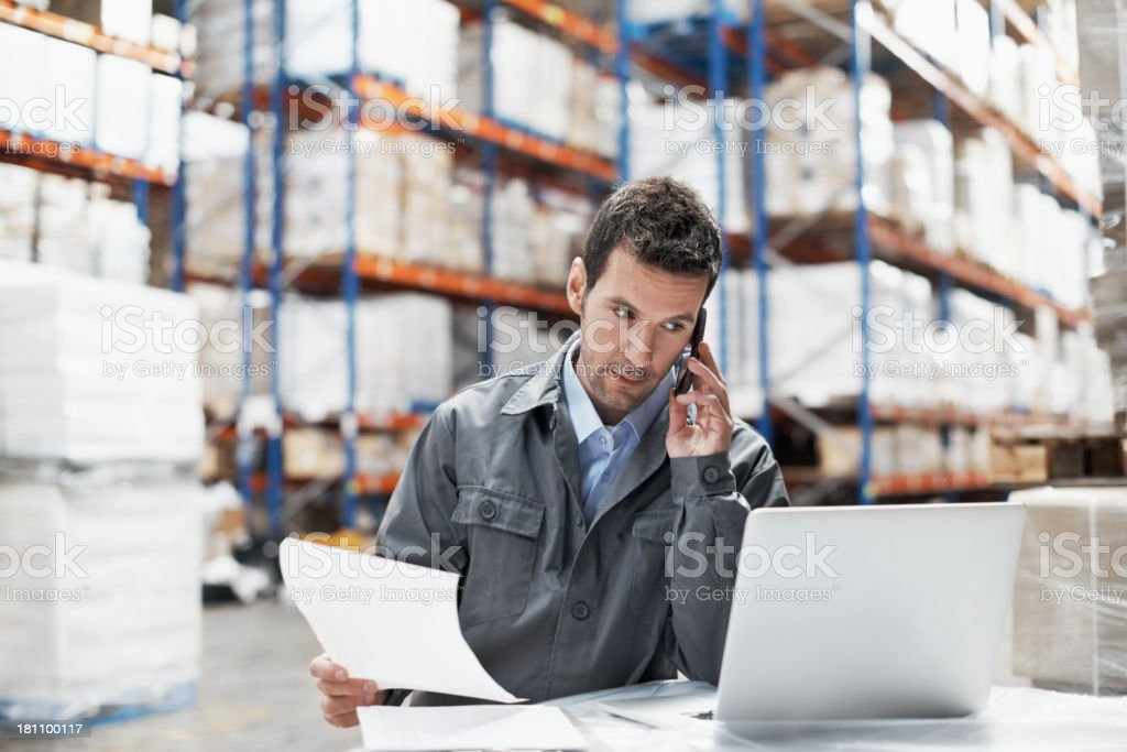 Taking orders royalty-free stock photo