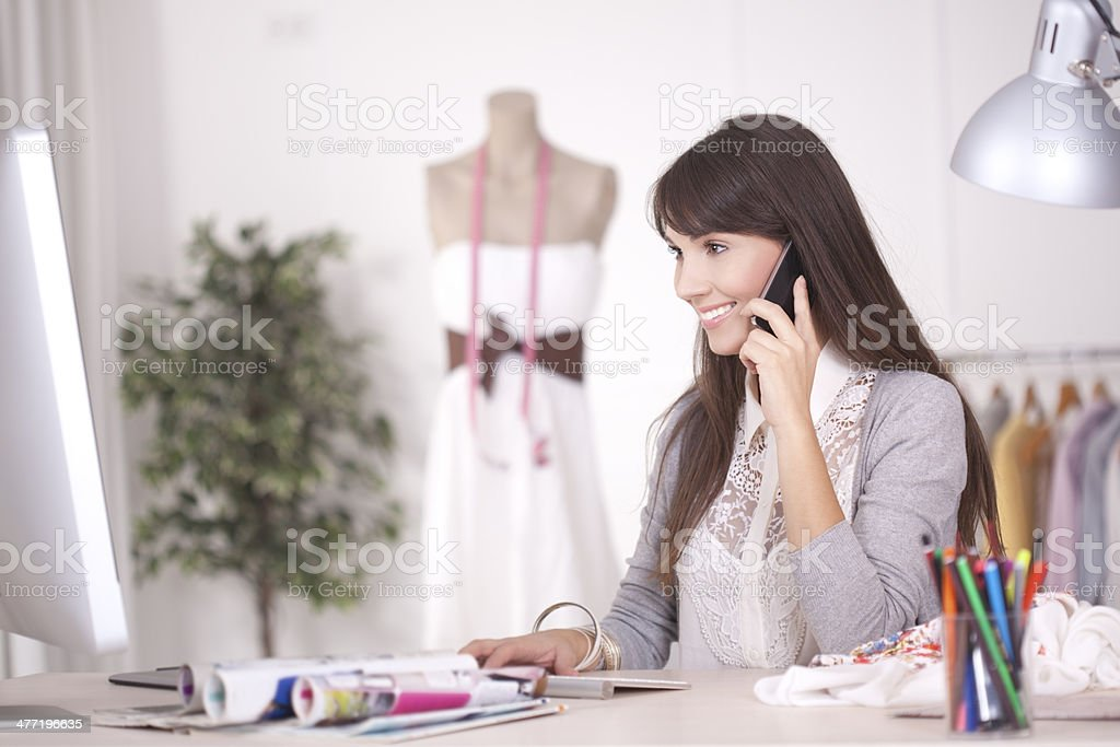 Taking orders. stock photo