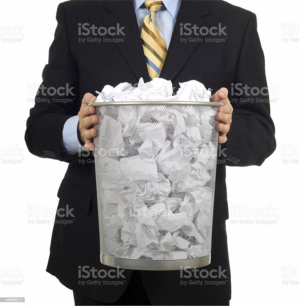 Taking out the Trash stock photo