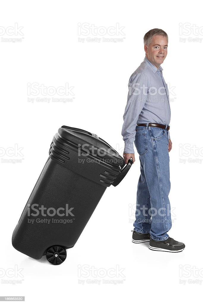 Taking Out The Trash royalty-free stock photo