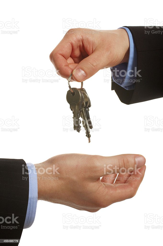 Taking over the business, home or car. Selling or buying. royalty-free stock photo