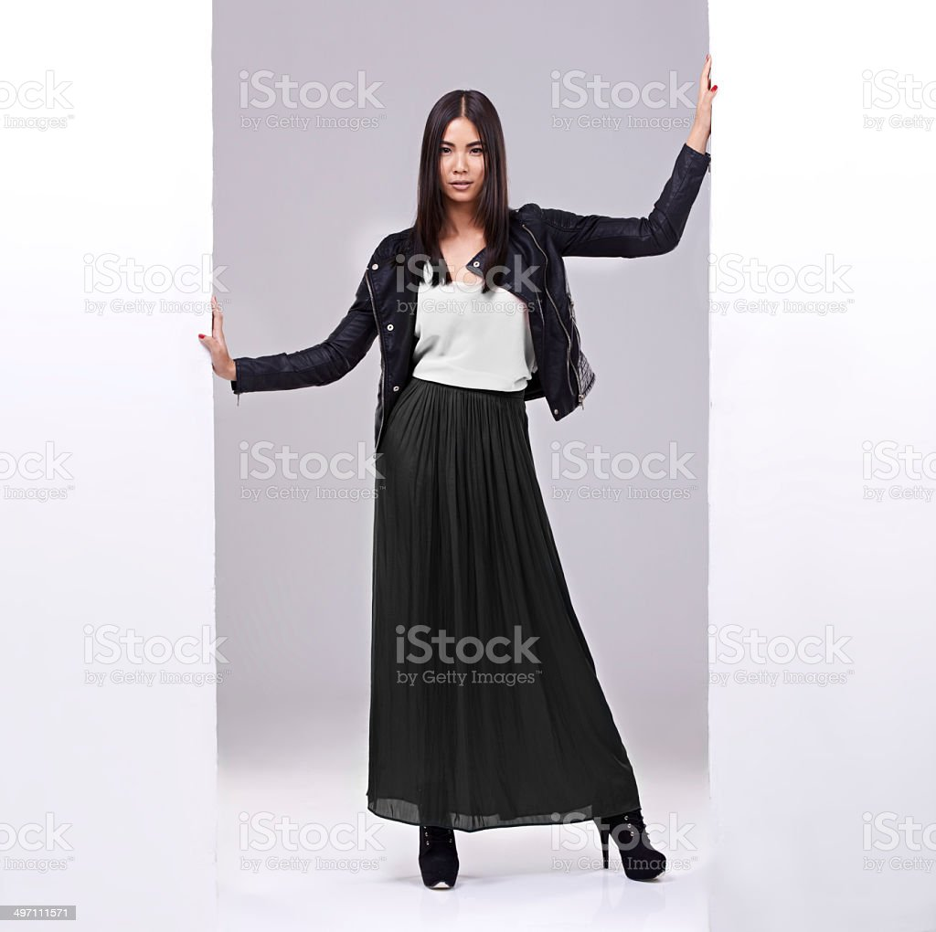 Taking over the world, one outfit at a time royalty-free stock photo