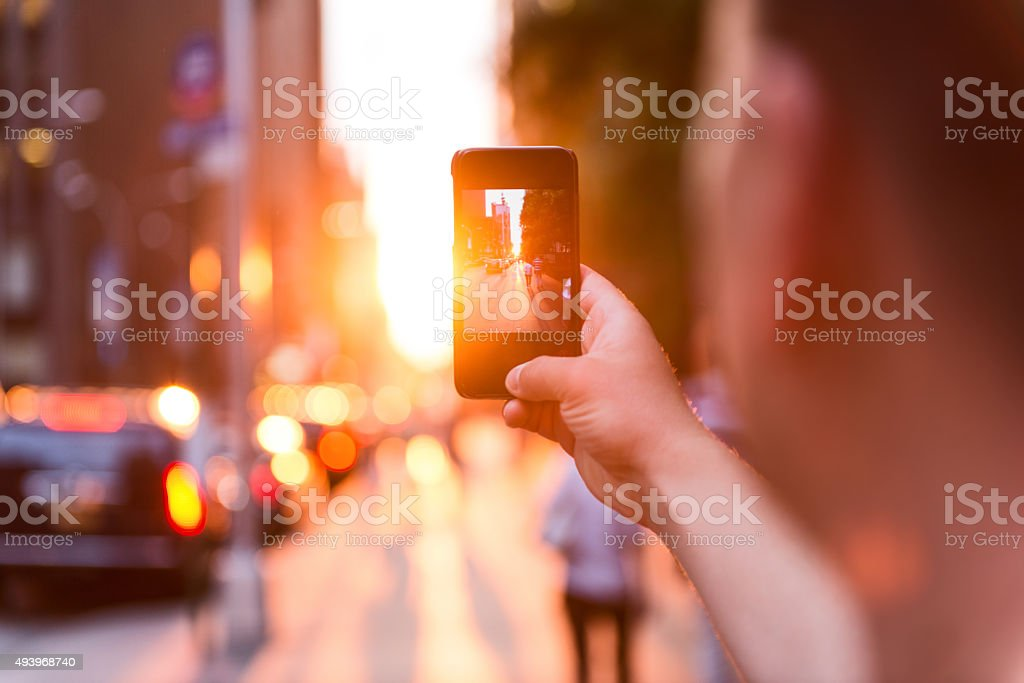 Taking perfect picture stock photo