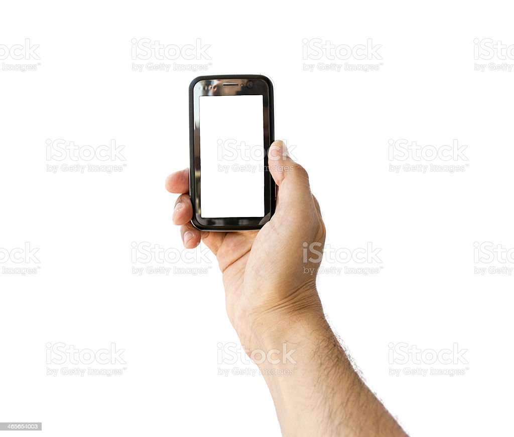 Taking photo on mobile phone concept in vertical royalty-free stock photo