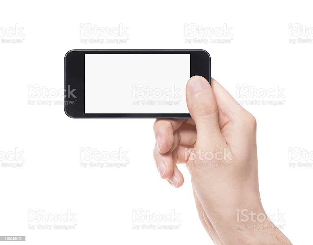 Taking photo on smartphone stock photo