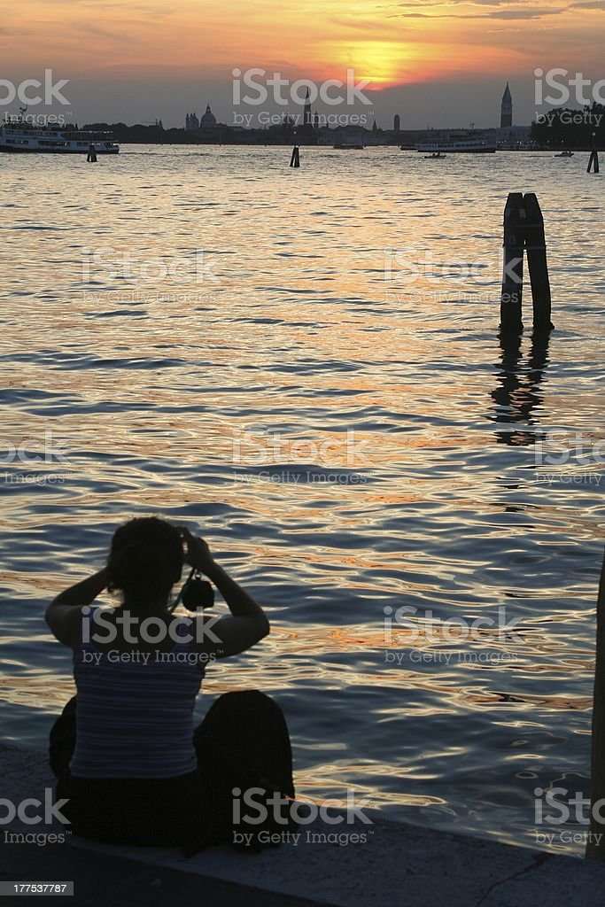 taking picture of venice royalty-free stock photo