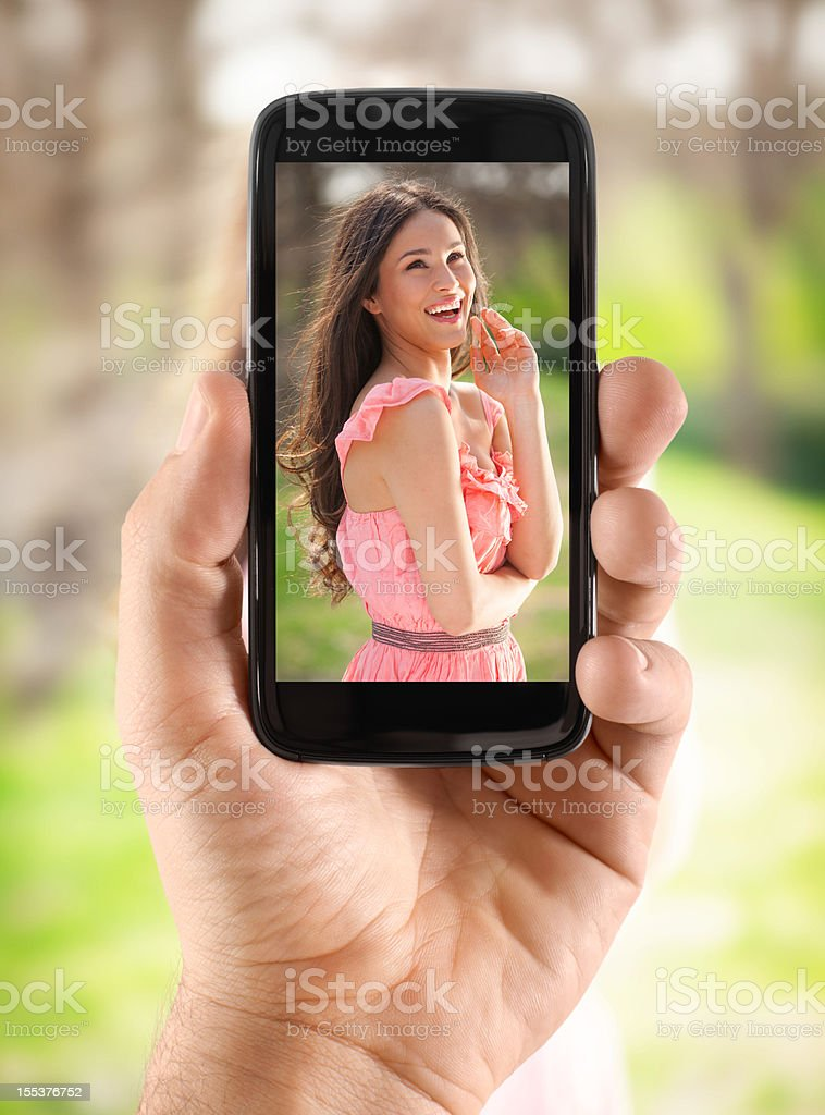 Taking picture stock photo