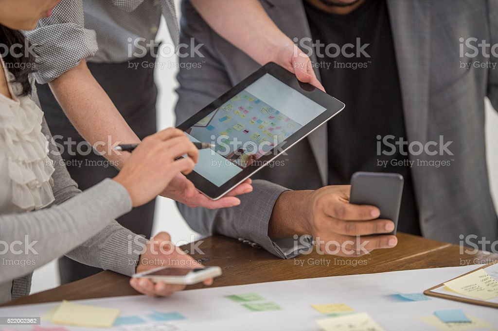 Taking Pictures of a Vision Board stock photo