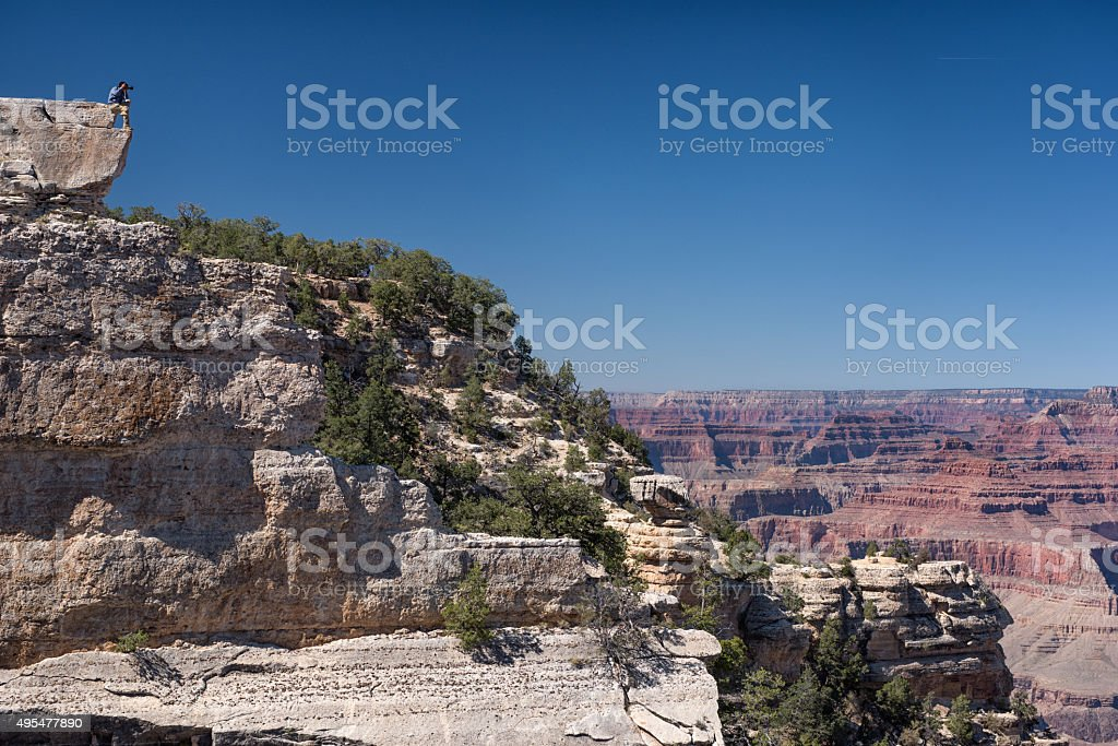 Taking Pictures of the Grand Canyon stock photo