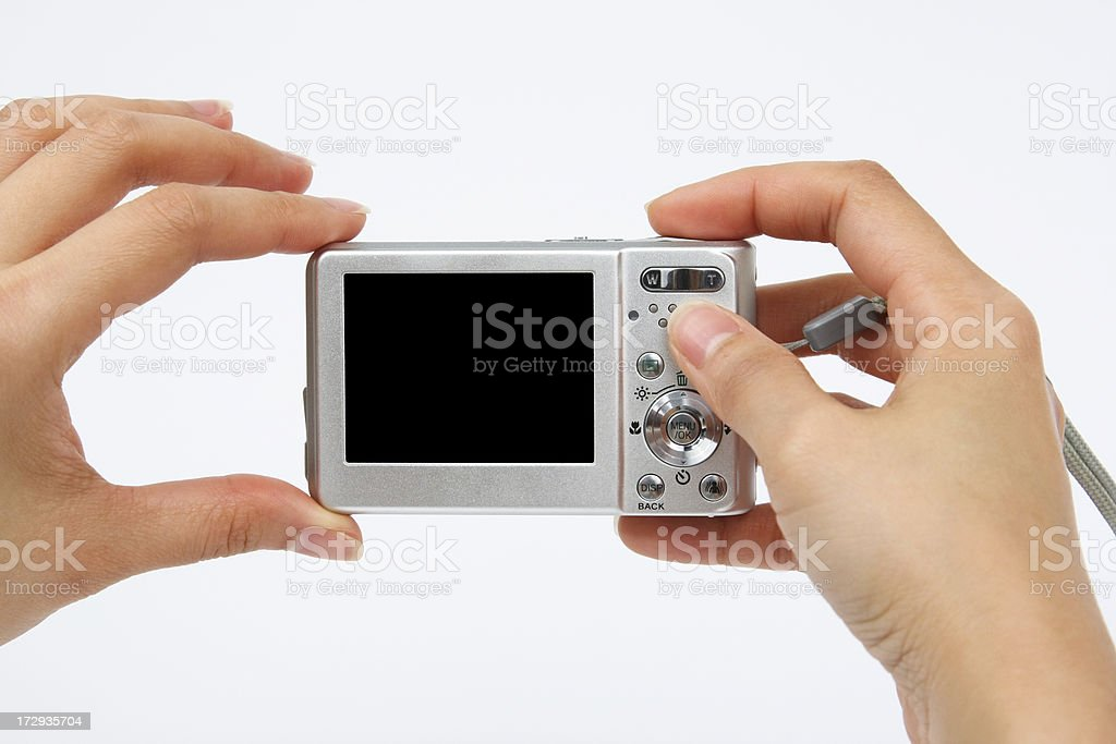 Taking pictures stock photo